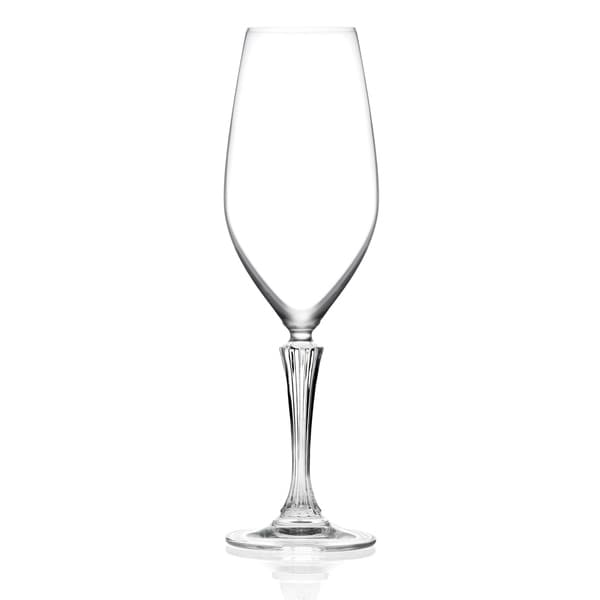 Majestic Gifts Inc. Set of 6 Glass Designed Flute-15 oz-Made in Europe