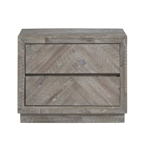 The Gray Barn Morning Star Solid Wood 2-drawer Nightstand in Rustic Latte