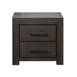 Carbon Loft Boa Two-drawer Nightstand in Basalt Grey