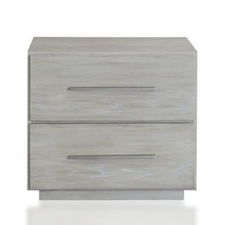 The Gray Barn Mooncakes 2-drawer Nightstand in Cotton Grey