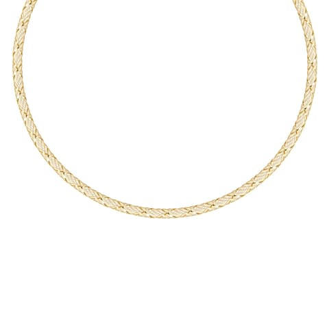 "Forever Last 10 Kt Gold 16.5"" Mesh Necklace"