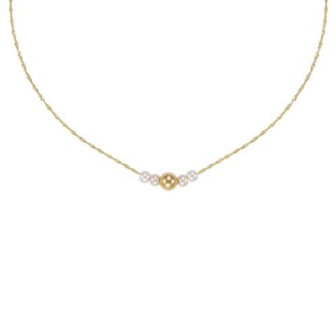 Forever Last 10 Kt Gold Balls Necklace