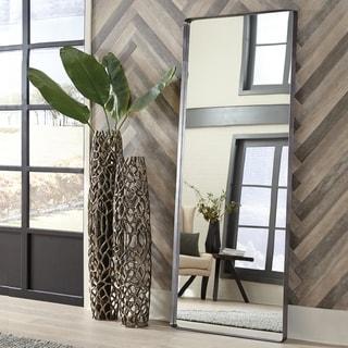 Steele Silver Oversize Leaner Mirror