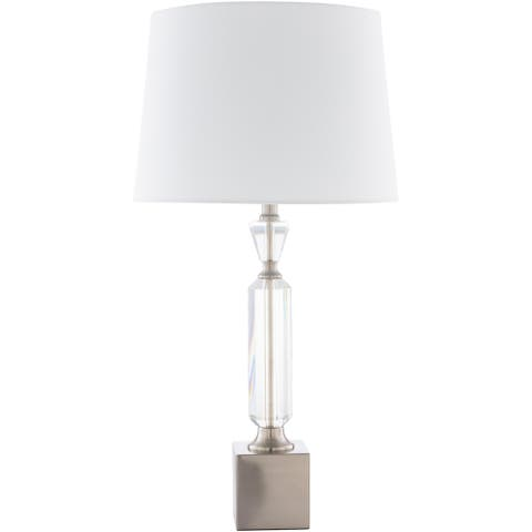 Quinter Traditional Brushed Crystal 27-inch Table Lamp