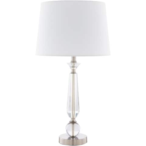 Quinter Traditional Brushed Crystal 24.5-inch Table Lamp