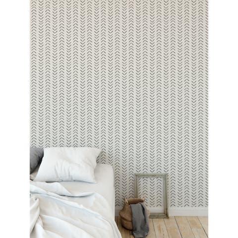 ELLE Decor MUDCLOTH BIG ARROWS CREAM Peel and Stick Wallpaper by Kavka Designs