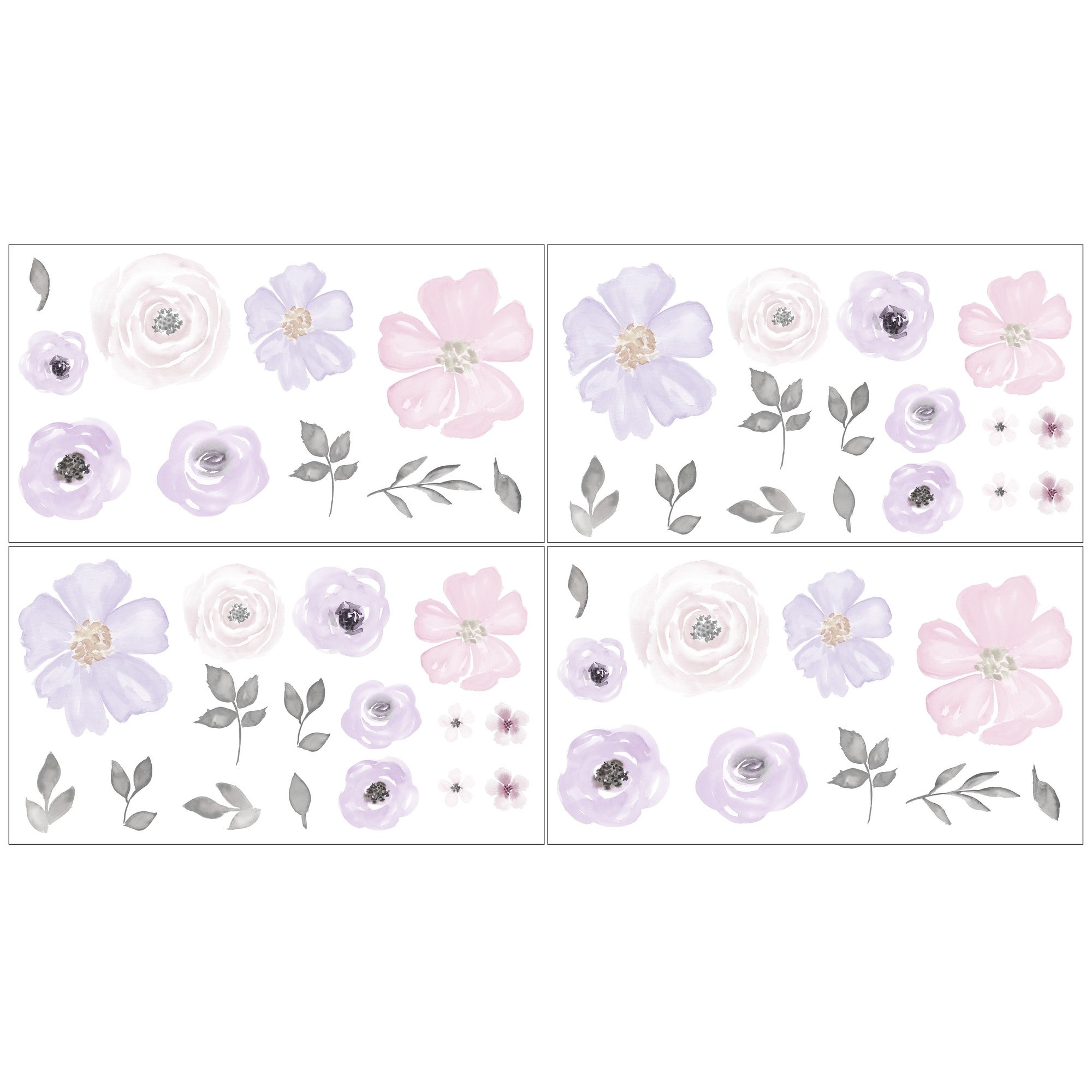 Watercolor Purple Lavender Sticker