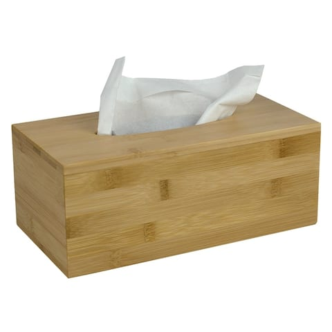 Rectangle Bamboo Tissue Box Cover Natural