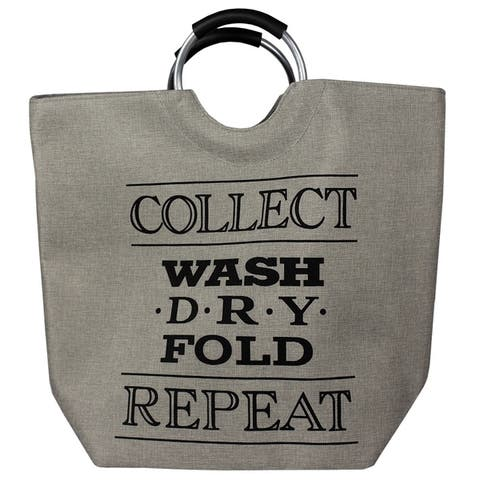 Collect Laundry Canvas Hamper Grey
