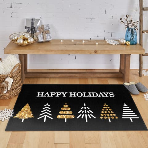 Mohawk Prismatic Holiday Trees Area Rug