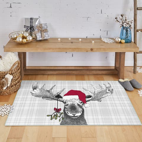 Mohawk Prismatic Holiday Moose Area Rug