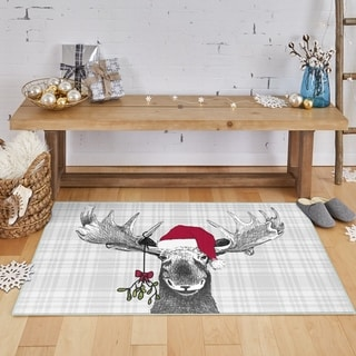 Link to Mohawk Prismatic Holiday Moose Area Rug Similar Items in Decorative Accessories