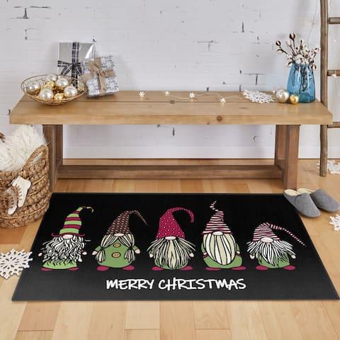Mohawk Prismatic Christmas Gnomes Area Rug