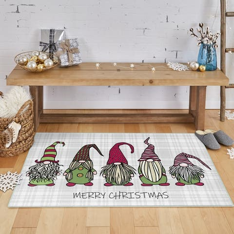 Mohawk Prismatic Christmas Gnomes Area Rug