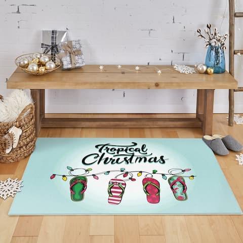 Mohawk Prismatic Tropical Christmas Area Rug