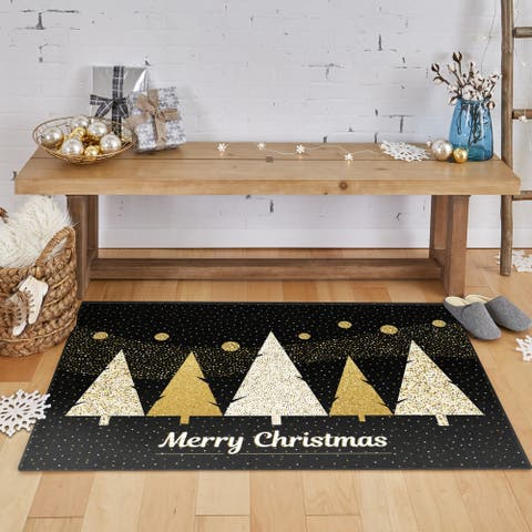 Mohawk Prismatic Merry Polkadot Trees Area Rug