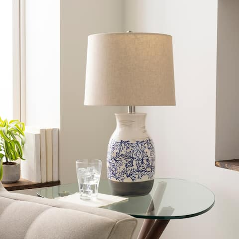 Omena Coastal Reef Ceramic 21-inch Table Lamp