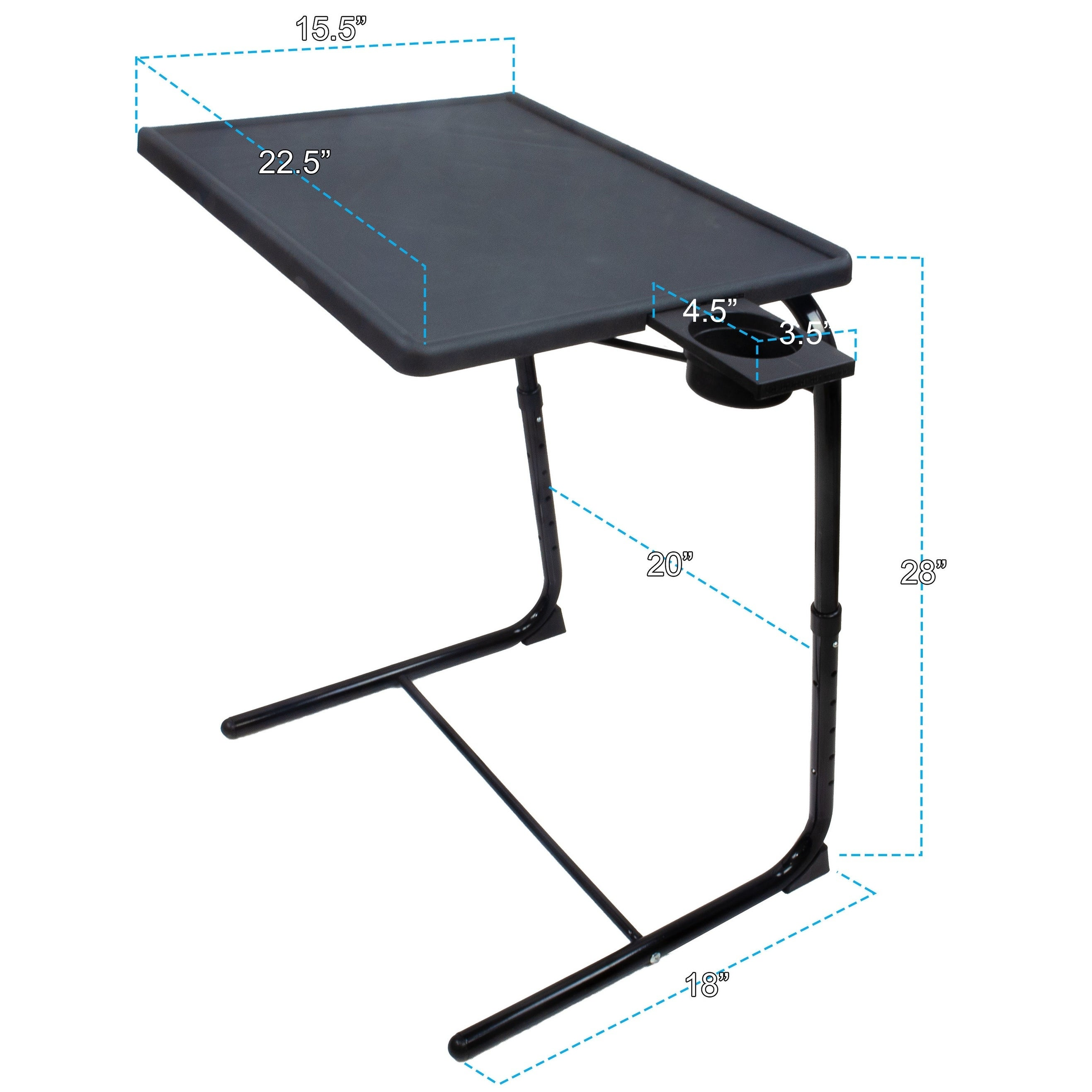 - Shop Porch & Den McNew Adjustable/Foldable TV Tray With Sliding