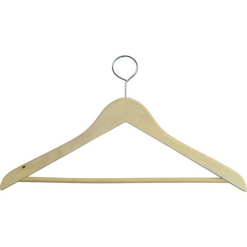 Wooden Closed Loop Security Hangers for Hotels and Hospitality, High Quality Anti-Theft Security Hangers