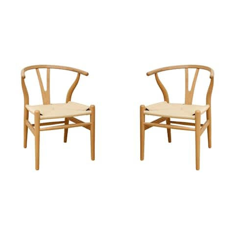 """Mid Century Modern """"W"""" Dining Side Chair-Set of 2"""