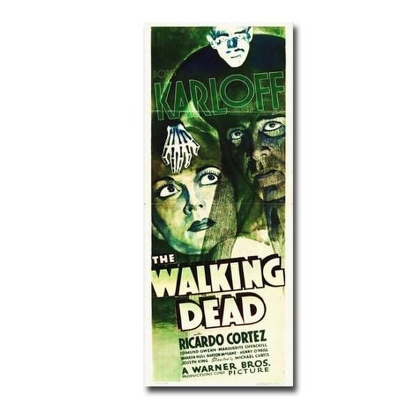 Walking Dead 1936 Movie Insert Gallery Wrapped Canvas Giclee Art (30 in x 12 in )