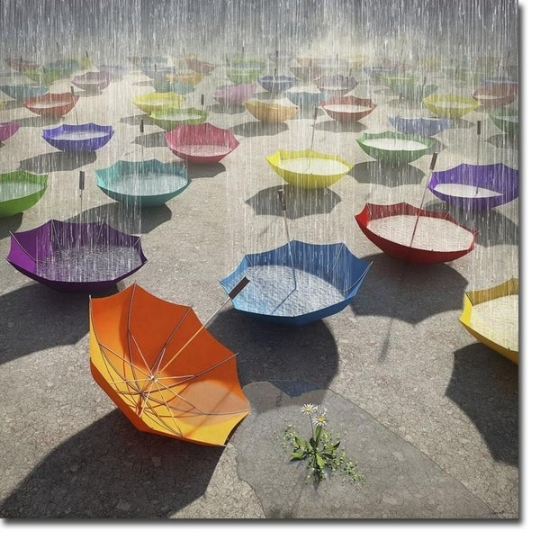 Downpour by Cynthia Decker Gallery Wrapped Canvas Giclee Art (30 in x 30 in )