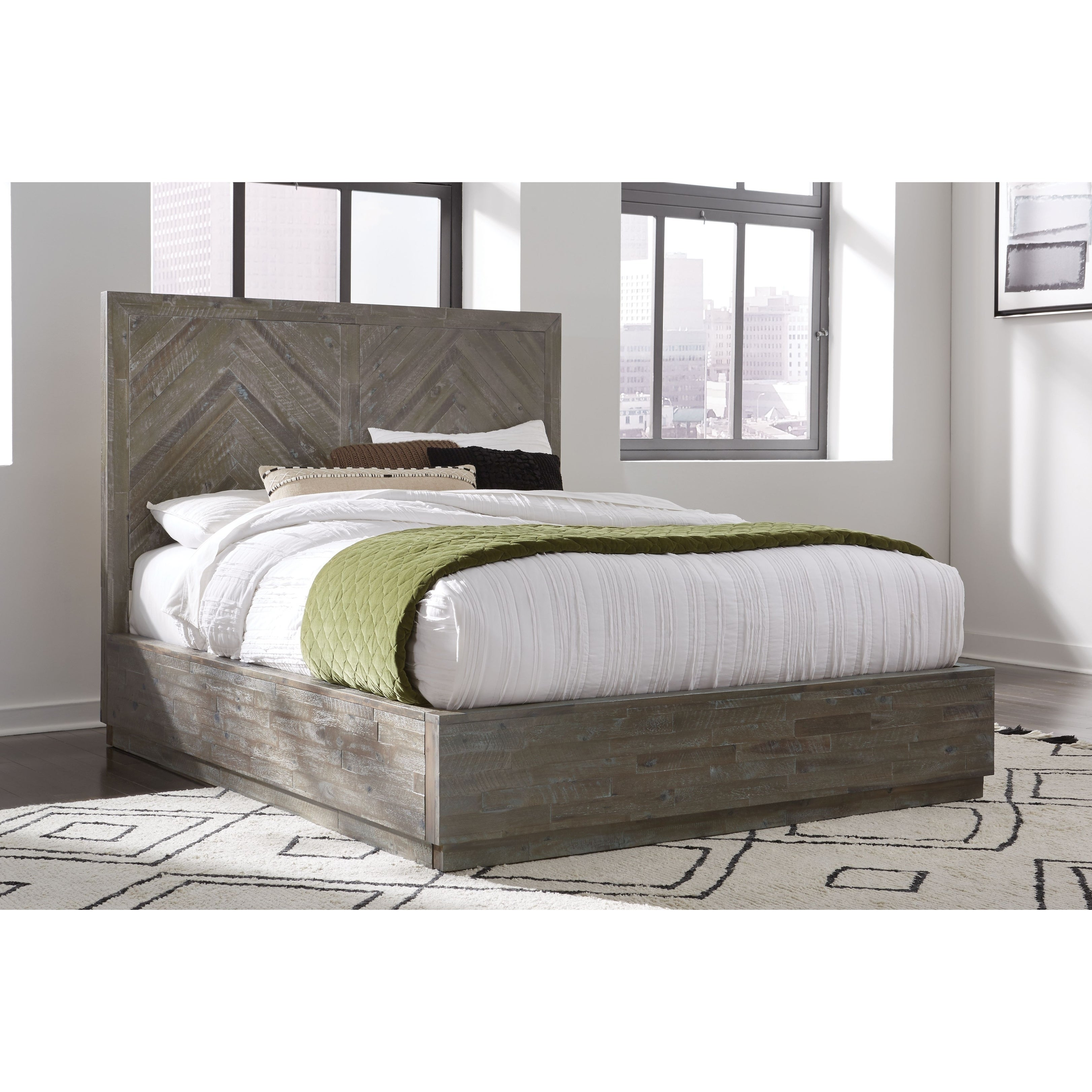 The Gray Barn Morning Star King Size Solid Wood Platform Bed Rustic Latte Overstock 29345062