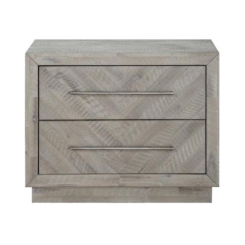 The Gray Barn Daybreak Solid Wood 2-drawer Nightstand in Rustic Latte