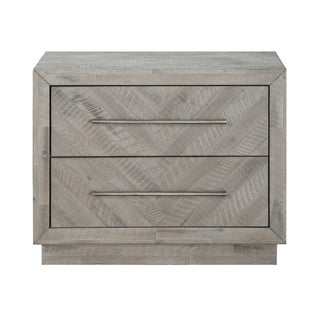 The Gray Barn Daybreak Solid Wood 2-drawer Nightstand in Rustic Latte
