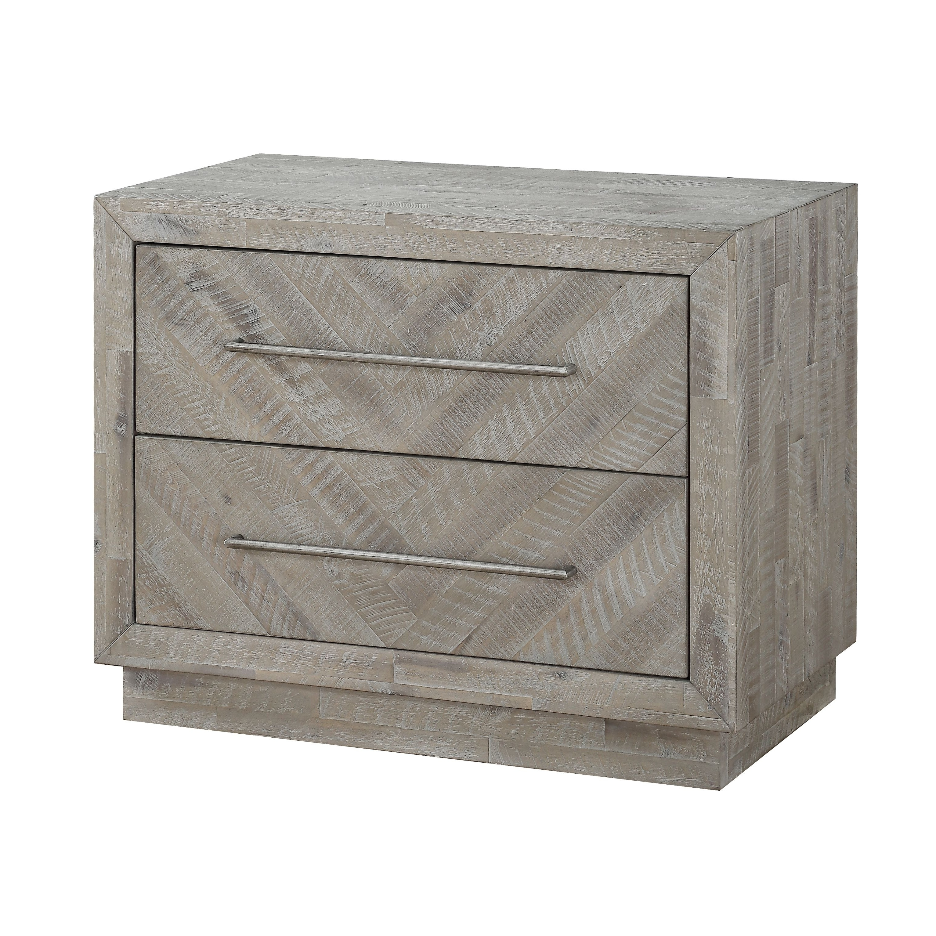 The Gray Barn Daybreak Solid Wood 2 Drawer Nightstand In Rustic Latte Overstock 29345083