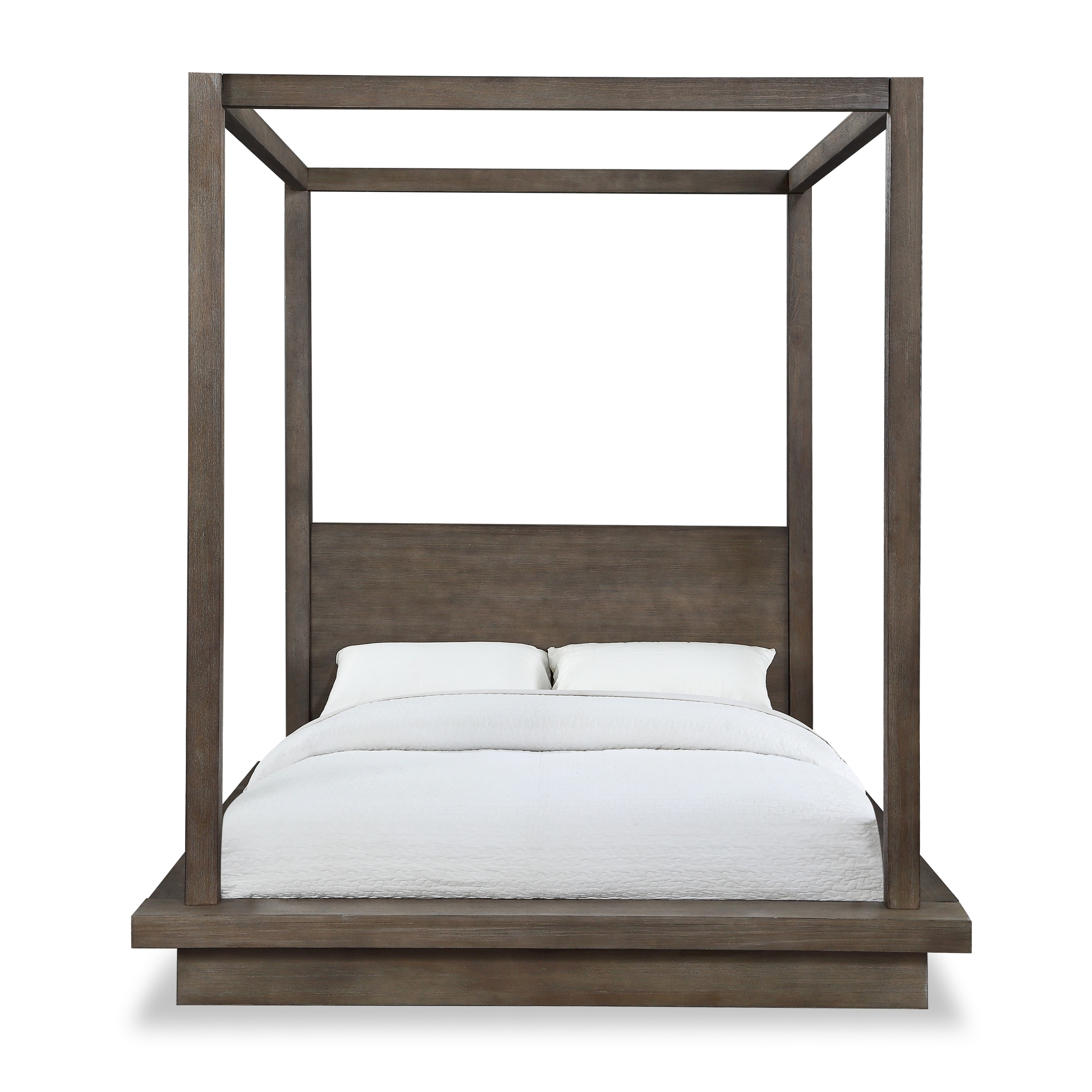 Picture of: Carbon Loft Carnegie California King Canopy Bed In Dark Pine Overstock 29345084