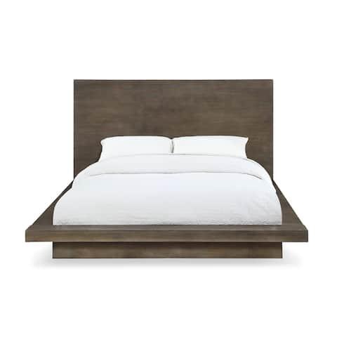 Carbon Loft Carnegie Queen-size Panel Bed in Dark Pine