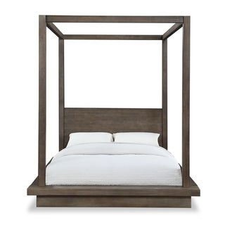 Carbon Loft Carnegie King-size Canopy Bed in Dark Pine