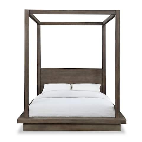 Carbon Loft Carnegie Full-size Canopy Bed in Dark Pine