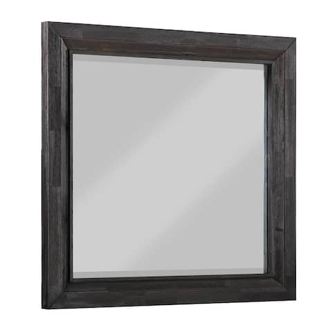 Ripley Beveled Glass Mirror in Vintage Coffee