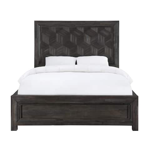 Ripley Full-Size Panel Bed in Vintage Coffee