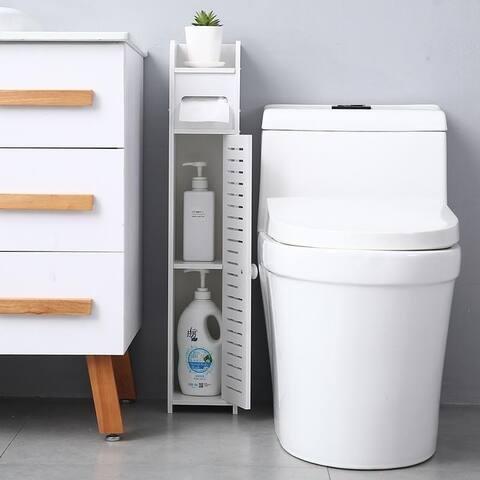 Paper Towel Storage Narrow Cabinet Bathroom Floor Cabinet Storage Organizer