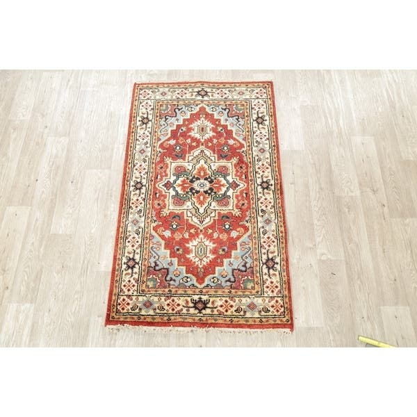 Heriz Indian Oriental Carpet Hand Knotted Wool Traditional Rug 5 0 X 3 0 On Sale Overstock 29347507