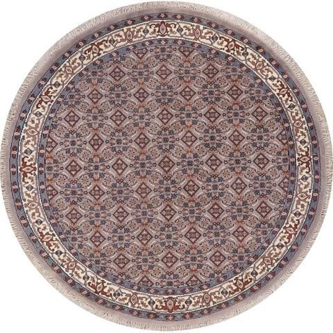 "Bidjar Oriental Carpet Hand Knotted Wool Traditional Indian Rug - 8'1"" x 8'1"" Round"