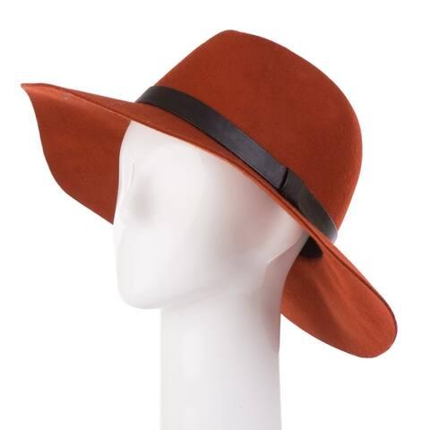Glitzhome Wool Fedora Hat with Ribbon