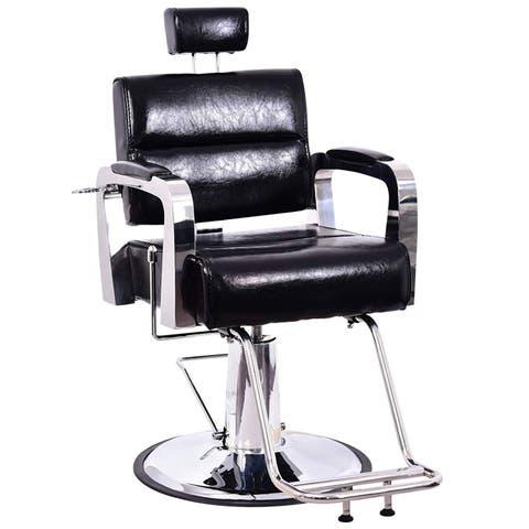 BarberPub Recliner Hydraulic Barber Chair Hair Spa Salon Styling Beauty Equipment 3127 - Black
