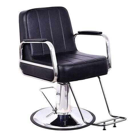 BarberPub Classic Hydraulic Barber Chair Hair Spa Salon Styling Beauty Equipment 3128 - black