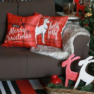 """Link to Merry Christmas Set of 2 Throw Pillow Covers Christmas Gift 18""""x18"""" Similar Items in Decorative Accessories"""