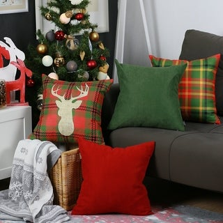 """Link to Merry Christmas Set of 4 Throw Pillow Covers Christmas Gift 18""""x18"""" Similar Items in Decorative Accessories"""