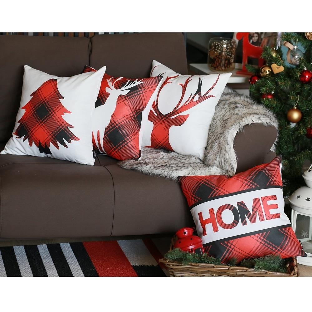 Merry Christmas Set of 4 Throw Pillow Covers Christmas Gift 18