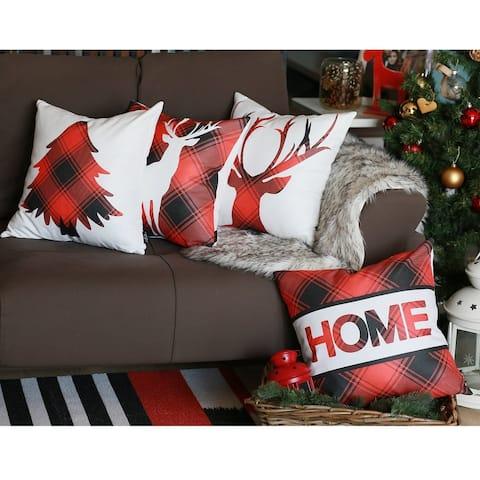 "Merry Christmas Set of 4 Throw Pillow Covers Christmas Gift 18""x18"""