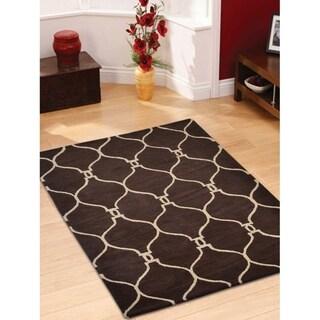 Moroccan Trellis Carpet Indian Oriental Geometric Hand Tufted Area Rug