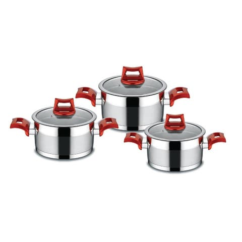 Ruya Stainless Steel Cookware Set, 3 pcs