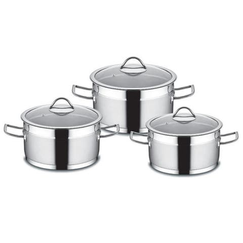 Sirma Stainless Steel Cookware Set, 3 pcs