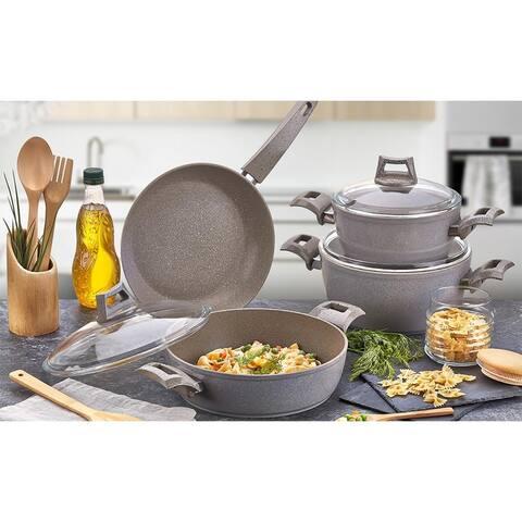 Fiesta Granite Cookware Set, 7 pcs, Gray